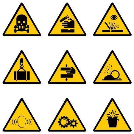 signos de precaucion:  conjunto de se�ales de advertencia Vectores
