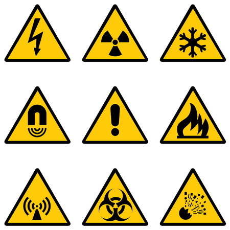 set of warning signs Stock Vector - 8181662