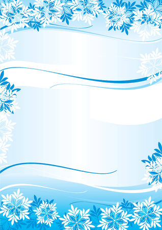 vector winter abstract background with snowflakes Stock Vector - 8366790