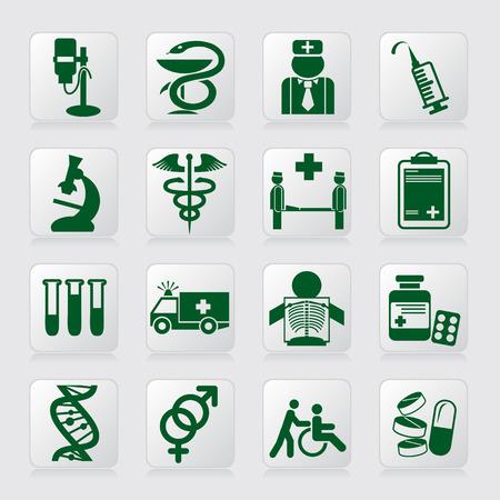 pastillas: conjunto de iconos de vector de s�mbolos m�dicos y signos