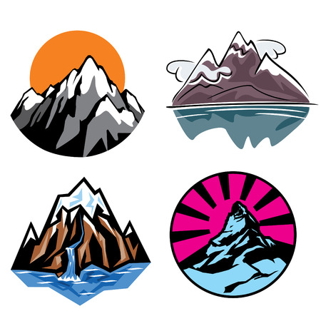 neve montagne: insieme di immagini di montagne
