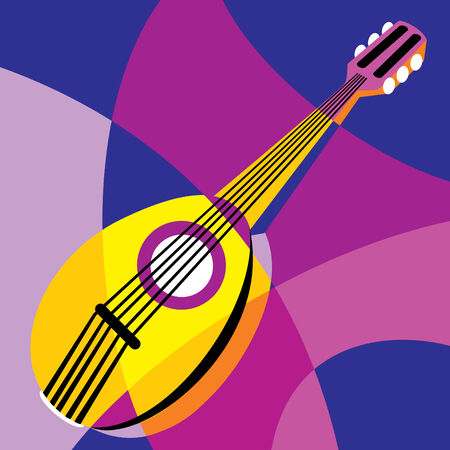 image dombra. Stylization of color overlapping forms. Vector
