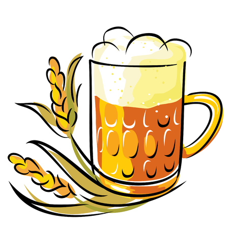 vector image of beer and wheat ears Stock Vector - 8985438