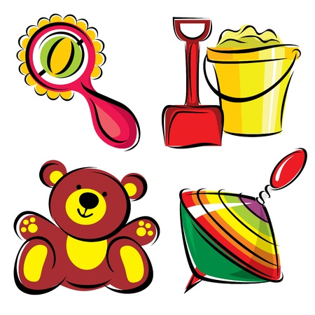 set images of childrens toys Stock Vector - 9210503