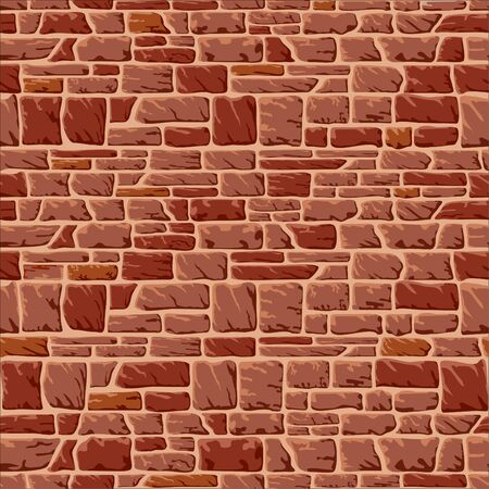 seamless background with a stone wall  Stock Vector - 9211986