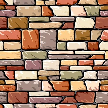 naadloze achtergrond met een stenen muur