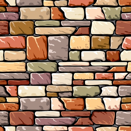 seamless background with a stone wall  Stock Vector - 9527611