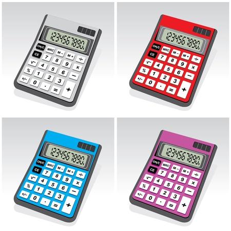vector image colored calculators Vector