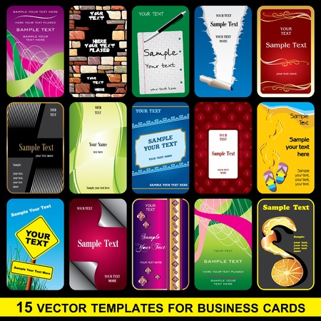 set vector template for Business card