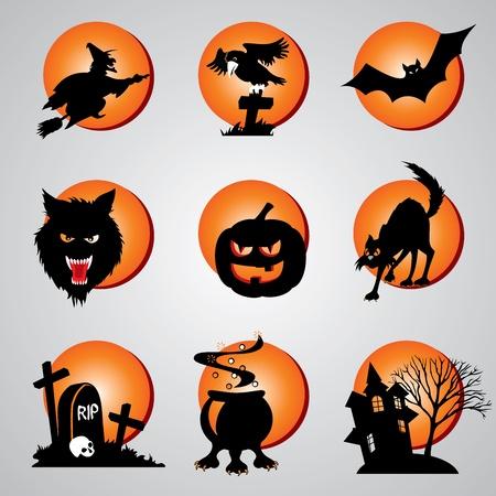 set vector symbol for halloween Vector