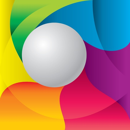 Vector imade abstract colored background with  gray ball