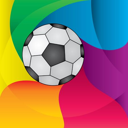Vector imade abstract colored background with  football ball Vector