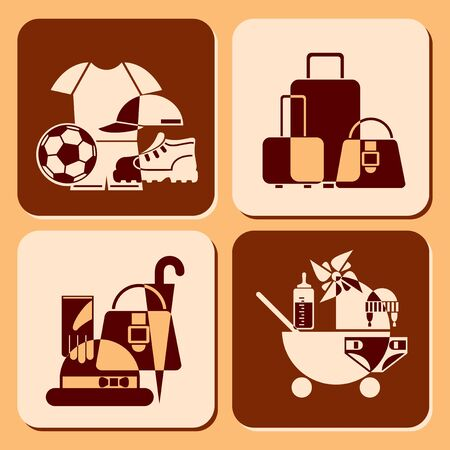 set vector icons of accessories Stock Vector - 11950894