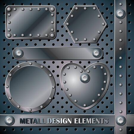 set vector metall design elements Vector