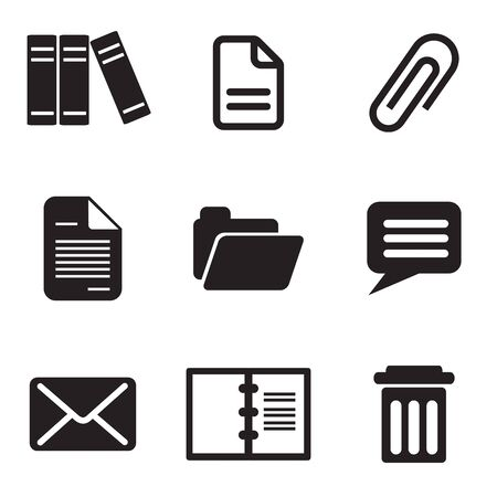 set computer icons of email message and letter