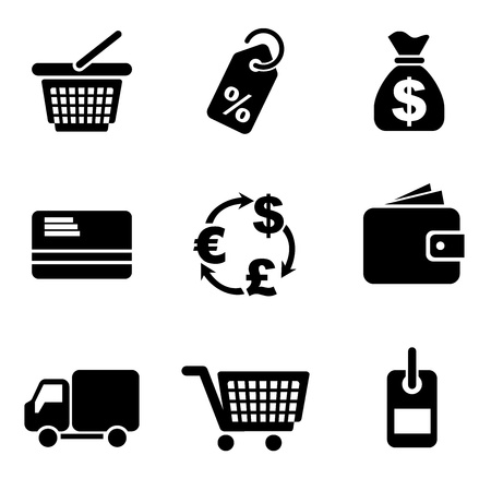 set vector computer icons of commerce and retail Stock Vector - 13137975