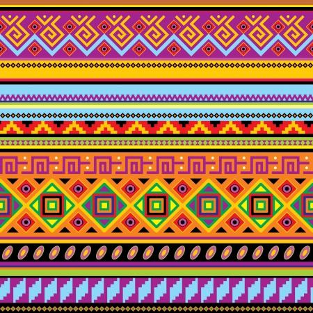 伝統: メキシコの飾りとのシームレスな背景