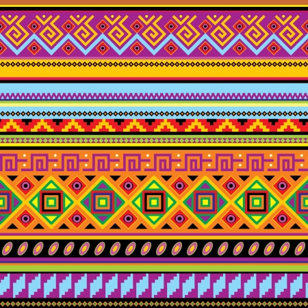 indigenous: seamless background with a mexican ornament Illustration