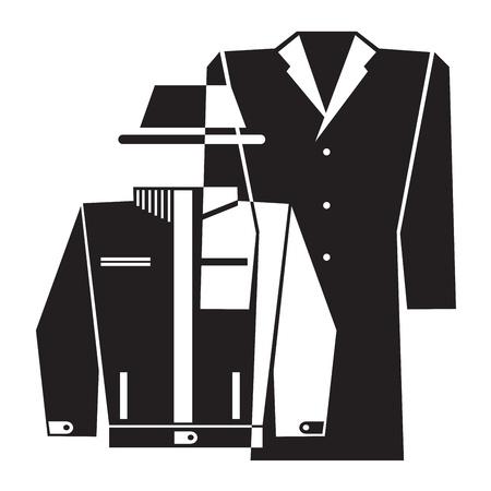 overcoat:  black and white icon of overcoat