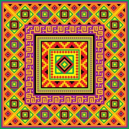tribu: fondo cuadrado con un adorno de M�xico