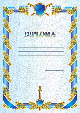 template of military diploma Vector