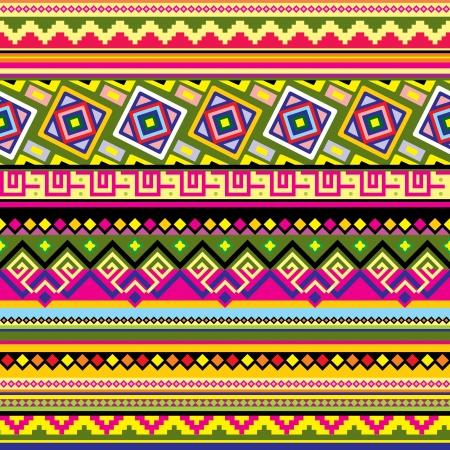 cultura maya: de fondo sin fisuras con un adorno de Am�rica Latina Vectores