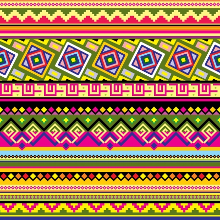 latin americans: seamless background with a Latin American  ornament Illustration