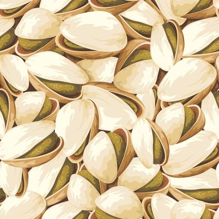 pistachio: seamless background with pistachios Illustration