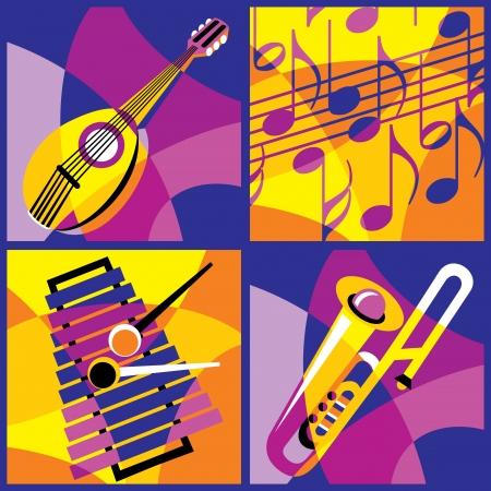 instrumentos musicales: colecci�n de im�genes de la primera parte varios instrumentos musicales 3