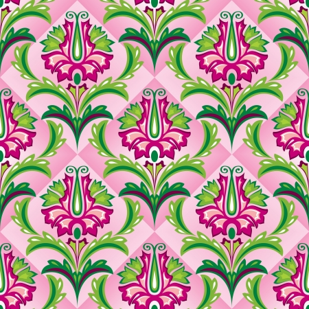 seamless  background with floral ornament