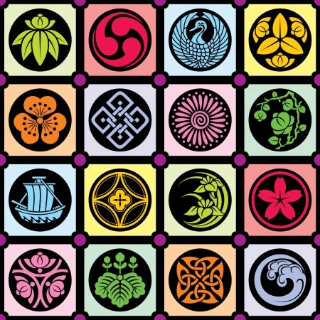 Diseño japonés tradicional Ilustración de vector