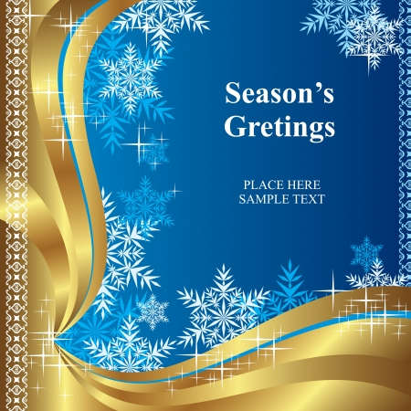 vector background of template christmas greetings Illustration