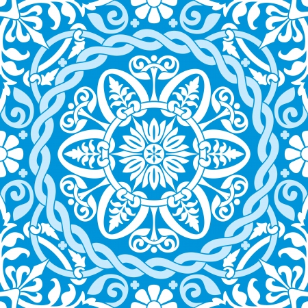 vector seamless background with blue winter ornament Stock Vector - 16443152