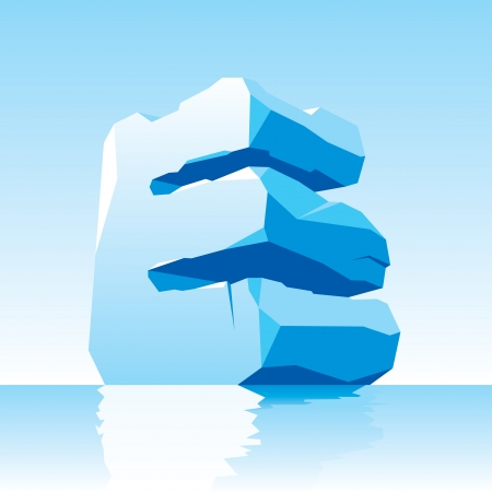 vector image of ice letter E Stock Vector - 16443151