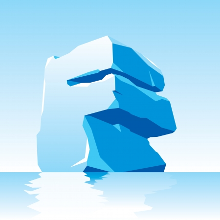 vector image of ice letter F Stock Vector - 16443161