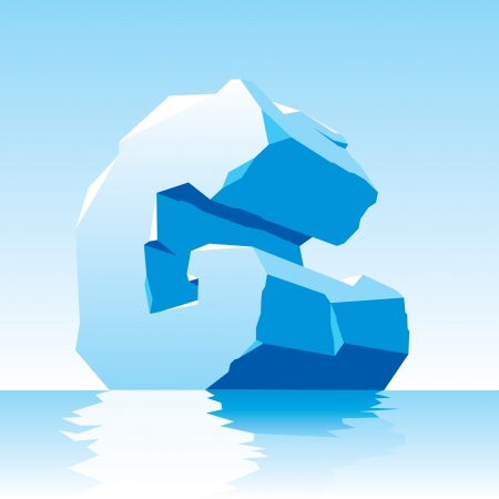 ice alphabet: vector image of ice letter G