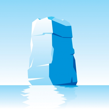 iceberg: vector image of ice letter I