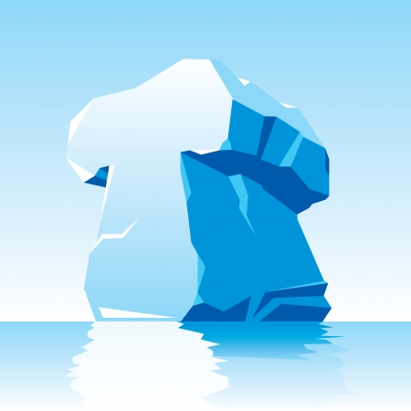 cleft:  image of ice letter T Illustration