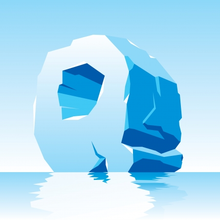 image of ice letter Q Stock Vector - 16544513