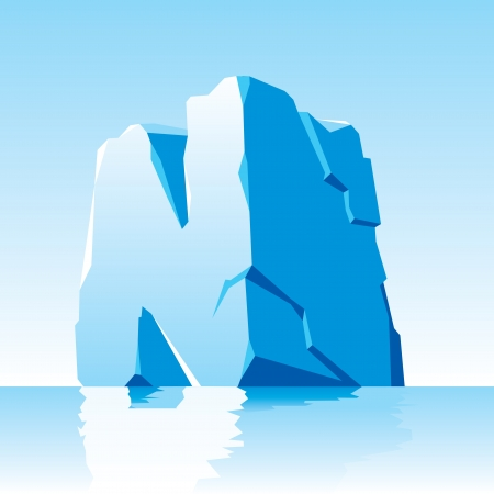iceberg:  image of ice letter N Illustration