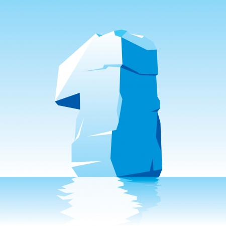 vector image of ice number 1 Stock Vector - 16589515