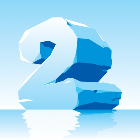 vector image of ice number 2 Stock Vector - 16589527
