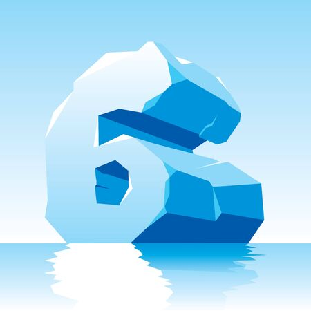 vector image of ice number 6 Stock Vector - 16589516