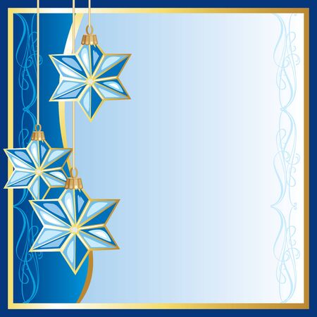 vector Christmas background with Christmas toys in the shape of a star Stock Vector - 16589693