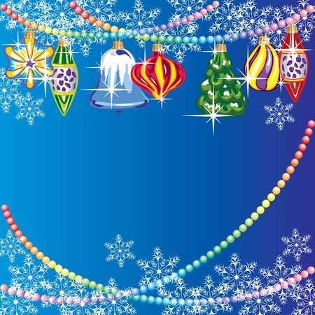vector Christmas background with Christmas toys Stock Vector - 16589695