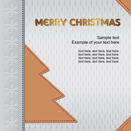 unpretentious: Christmas background for Christmas card Illustration