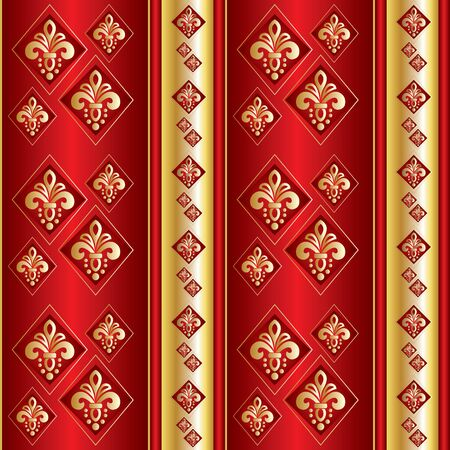 seamless vector background for wallpaper, curtains and other designs Vector