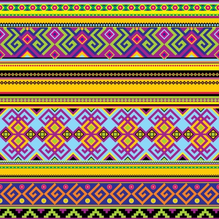 seamless background with a mexican pattern Vector