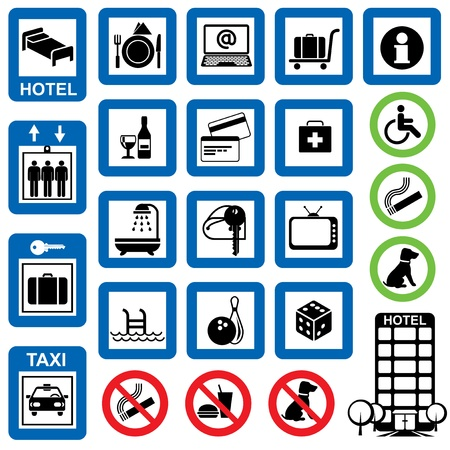 vector set of information symbols for the hotel. Stock Vector - 17772173