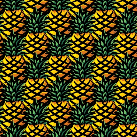 vector seamless background with pineapple  Vector
